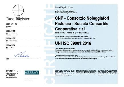 certificato ISO 39001